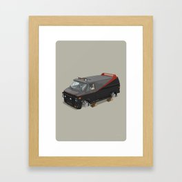 80´s tv and films cars (A team) Framed Art Print