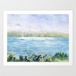 Cayuga Lake Regatta Art Print