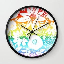 Zen Floral Wall Clock