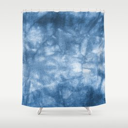 Blue Tie Dye Shower Curtain
