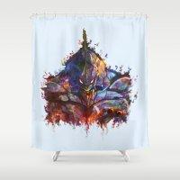 evangelion Shower Curtains featuring Evangelion by ururuty