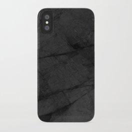Dark Grey Matte Black Marble iPhone Case