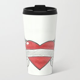 flying heart Metal Travel Mug