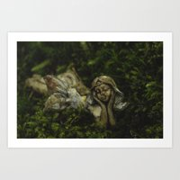 fairy Art Prints featuring Fairy by Mark Spence