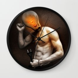Glow Lamp Wall Clock