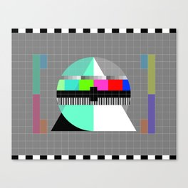 Waiting for the Show to Begin (Test Pattern 1) Canvas Print