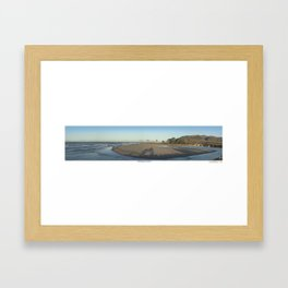 Ventura River Mouth Framed Art Print