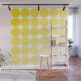 Yellow Circle Color Chart Wall Mural