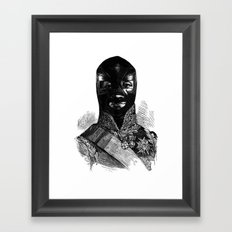 Wrestling mask 1 Framed Art Print