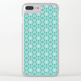 Project 503  |  White Lace on Teal Green Clear iPhone Case