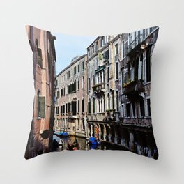 Venice the city of Canals Throw Pillow
