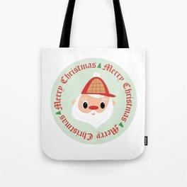 Santa Woodsman Tote Bag