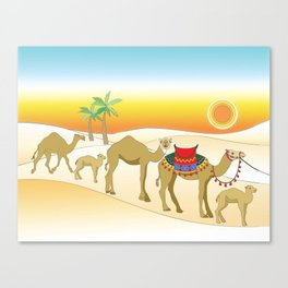 Exodus, Camels in the Desert, Passover Canvas Print
