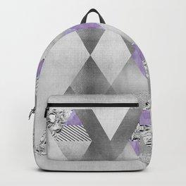ETHNO Elegance silver & purple Backpack