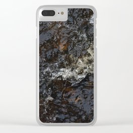 A raging stream Clear iPhone Case