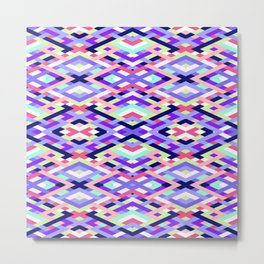Smart Diagonals Coral Metal Print