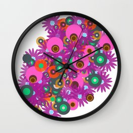 flower circles corsage Wall Clock