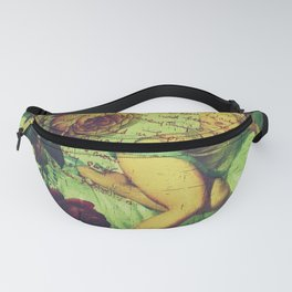 Pin Up Girls Vintage Roses Pinup Girl Fanny Pack