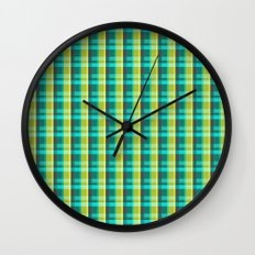 Lumberjack Attack! Plaid Wall Clock