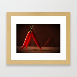 Standing Chili Framed Art Print