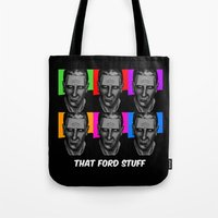ford Tote Bags featuring Harrison Ford by Sabrina
