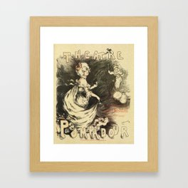 Vintage 1898 French theatre advertising Framed Art Print