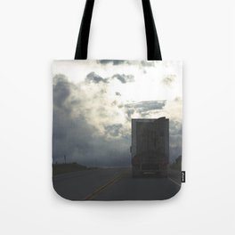 Trucking Down The Road Tote Bag