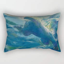 Polar Bear Swim Rectangular Pillow