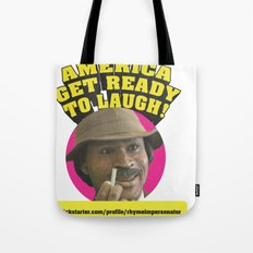 The Rhyme Impersonator Show Art Print Tote Bag