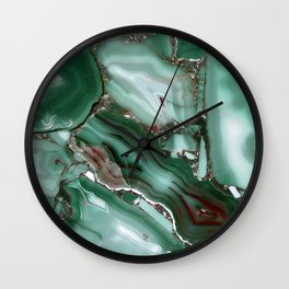 Luxury Malachite Marble Agate Wall Clock