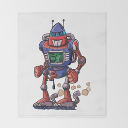 Robot USA Throw Blanket