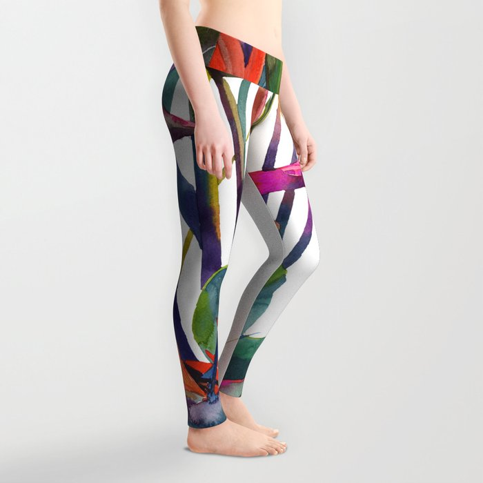 The bird of paradise Leggings