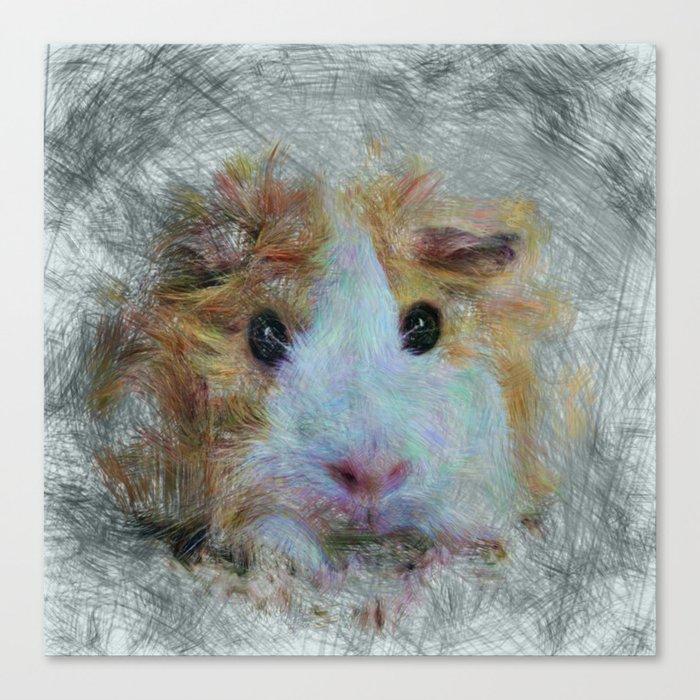 Artistic Animal Guinea Pig 3 Canvas Print