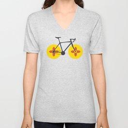 New Mexico Flag Cycling Unisex V-Neck