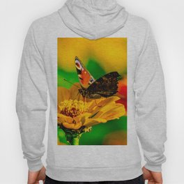 Butterfly on flower Hoody