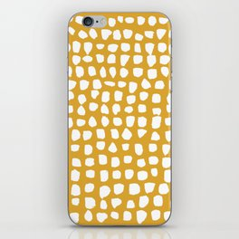 Dots / Mustard iPhone Skin