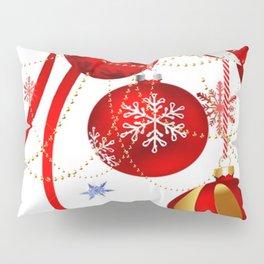 FESTIVE RED CRISTMAS HOLIDAY ART Pillow Sham