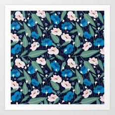 Blue Botanical Art Print