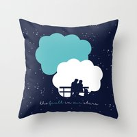 fault in our stars Throw Pillows featuring The Fault In Our Stars by laurenschroer