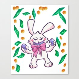 Easter Bunny Easter Egg windfall gift Canvas Print
