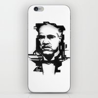 godfather iPhone & iPod Skins featuring The GODFATHER by A. Dee
