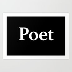 Poet inverse Art Print