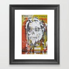 Skull Sanders Distress Framed Art Print