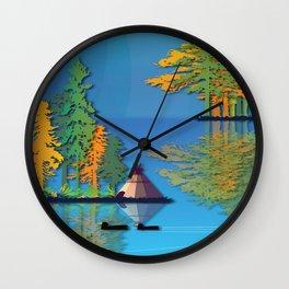 Land Of The American Natives No. 5 Wall Clock