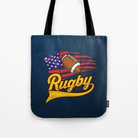 rugby Tote Bags featuring RUGBY by frail