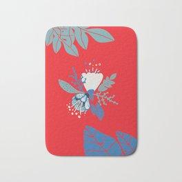 Red spring flower Bath Mat