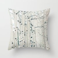 narnia Throw Pillows featuring Aspen I by Laura Ruth