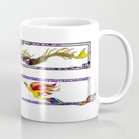 mermaids Mugs featuring Mermaids by Andrea Palagiano