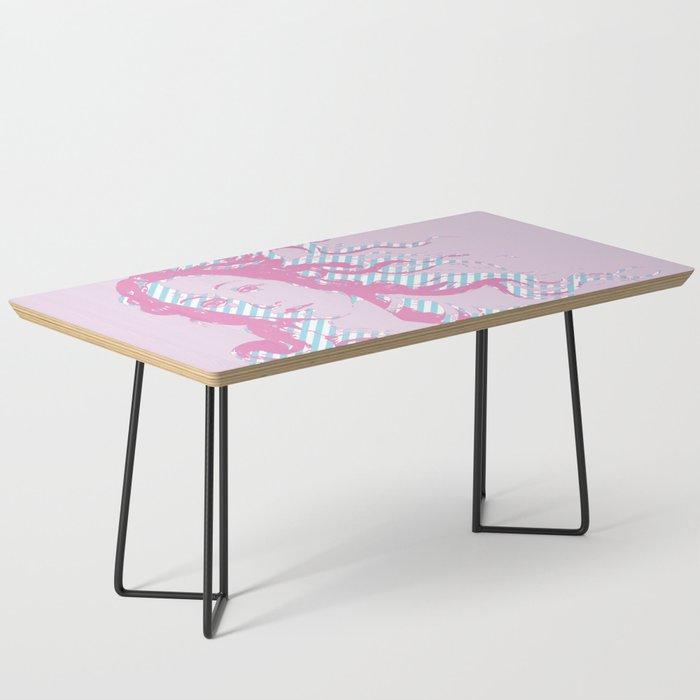 Rebirth of Venus - Pink & Cyan - Trans Pride! Coffee Table