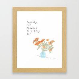 Freshly Cut Flowers Framed Art Print